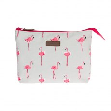 Sophie Allport Flamingos Large Canvas Wash Bag