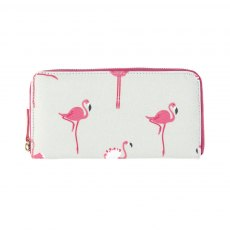 Sophie Allport Flamingos Oilcloth Zipped Wallet Purse