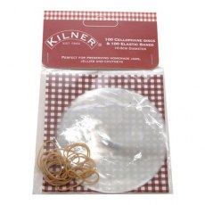 Kilner Cellophane Disc With Elastic Bands Pack Of 100