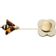 Orla Kiely Bee and Flower Brooch