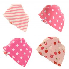 Zippy Baby Bandana Dribble Bib 4 pack Pretty Pinks