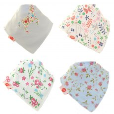Ziggle Bandana Dribble Bib 4 pack Delicate Blues