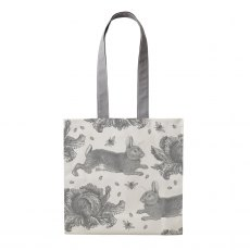 Thornback & Peel Grey Rabbit & Cabbage Tote Bag
