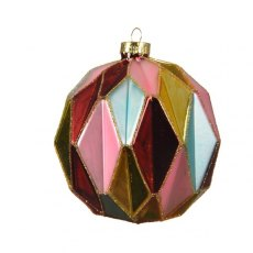 Diamond Cut Multi Coloured Bauble