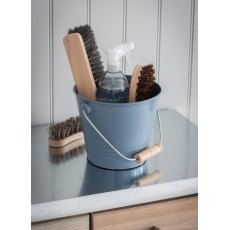 Enamel Utility Bucket in Dorset Blue