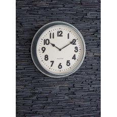 Galvanised Steel Indoor/ Outdoor Wall Clock