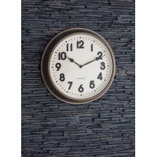 Broadway Indoor/Outdoor Wall Clock, Large in Gunmetal
