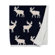 Christmas Reindeer Throw