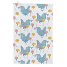 Thornback & Peel Classic Chicken & Carnation Tea Towel