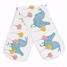 Thornback & Peel  Classic Rabbit & Carnation Double Oven Glove