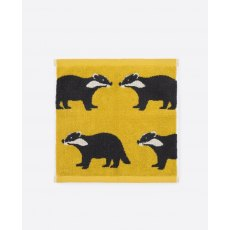 Anorak Kissing Badgers Face Cloth