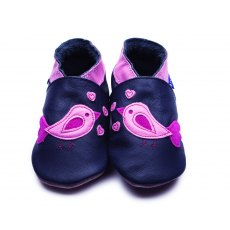 Navy Bird d'amour Shoes 6-12 Months
