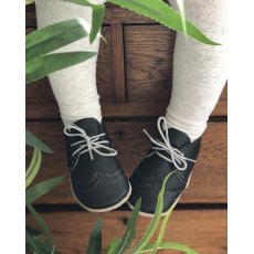 Hector Black Lace Up Shoes 6-12 Months