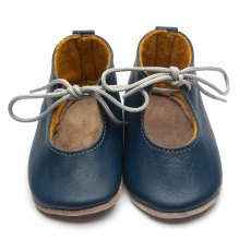 Mabel Navy Lace Up Shoes 6-12 Months
