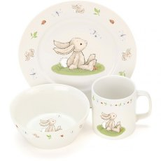 Jellycat Bashful Bunny Ceramic Bowl Set