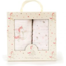 Jellycat Bashful Unicorn Muslin Cloths