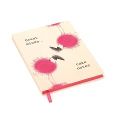 Jellycat Flaunt Your Feathers Great Minds Lined Notebook