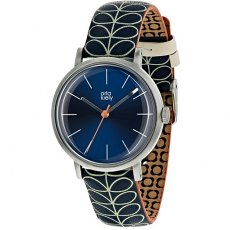 Orla Kiely Patricia Linear Stem Navy Watch