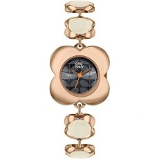 Orla Kiely Poppy Link Rose Gold Watch