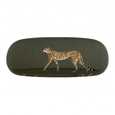 Sophie Allport Cheetah Oilcloth Hard Glasses Case
