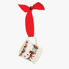 Emma Bridgewater Christmas Joy Tiny Mug Tree Decoration