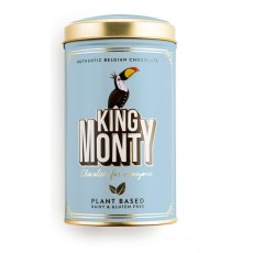 King Monty Tin of Chocolate Pop Rice Vegan Chocolate Sticks