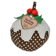 Welsh Christmas Pudding Doorstop