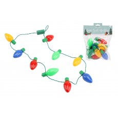 Christmas Lights Flashing Bulb Necklace