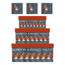 Emma Bridgewater Starry Night Robin Gift Box