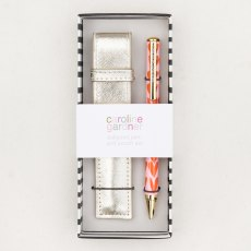 Caroline Gardner Urban Luxe Hearts Pen in Gold Pouch