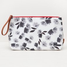 Caroline Gardner High Shine Wristlet Washbag Mono Rose