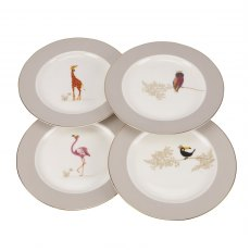 Sara Miller London for Portmeirion Piccadilly Cake Plates Set of 4