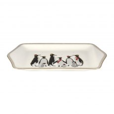 Sara Miller London Penguin Christmas Collection Dessert Tray