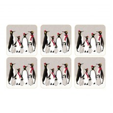 Sara Miller London Penguin Christmas Collection Coasters Set of 6