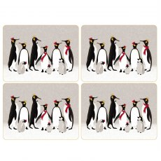 Sara Miller London Penguin Christmas Collection Placemats Set of 4