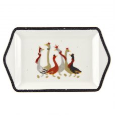 Sara Miller London Geese Christmas Collection Dessert Tray