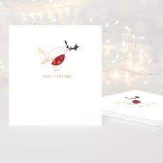 Gold Foil Robin Charity Christmas Cards Pack of 5