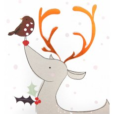 Reindeer & Robin Charity Christmas Cards Pack of 5