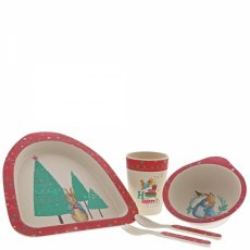 Peter Rabbit Christmas Organic Dinner Set