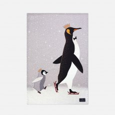 Sara Miller London Skating Penguin Tea Towel