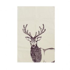 Woodland Trust Stag Tea Towel Panama Cotton