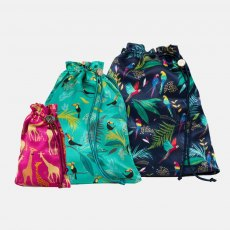 Sara Miller London Silk Travel Bags Tropical