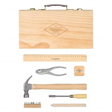 Gentleman's Hardware Tool Kit In Wooden Box