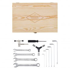 Gentleman's Hardware Bicycle Tool Kit in a Wooden Box