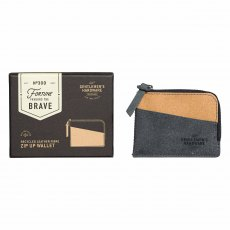Gentleman's Hardware Zip Up Wallet Recycled Leather Black & Tan