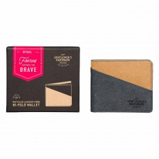 Gentlemen's Hardware Recycled Leather & Black Tan Bi-Fold Wallet