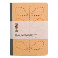 Orla Kiely Linear Stem A6 Kraft Mini Notebooks