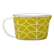 Orla Kiely Linear Stem Enamel Measuring Jug - Seagrass