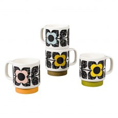 Orla Kiely Scribble Square Flower Stacking Mugs