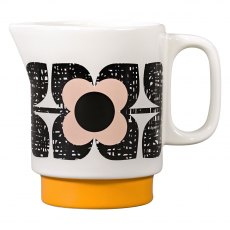 Orla Kiely Scribble Square Flower Milk Jug - Rose Tint